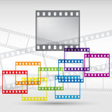 Abstract background with a film strip. Vector Eps Stock Image