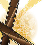 Abstract background with a film strip. Vector Eps. 10 Stock Photo