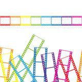 Abstract background with a film strip. Vector. Illustration Royalty Free Stock Photo