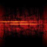Abstract background with filmstrips Royalty Free Stock Photos