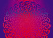 Abstract background. Fine delicate ornament. Abstract artistic background. Fine delicate ornament in colors: red, purple, violet, blue. Bright, colorful colors stock illustration