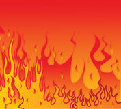 Abstract background with fire Stock Photography