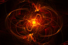 Abstract background - fire 2. Red abstract fractal bacground with luminous and glowy wevy oval forms, reminding of fire stock illustration