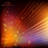 Abstract background Fire , rays, and spots of light. Vector Royalty Free Stock Photography