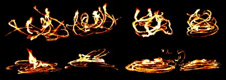 Abstract background with fire shapes Stock Photo