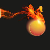 Abstract background with fire Royalty Free Stock Photography