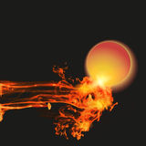 Abstract background with fire Stock Image