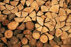 Abstract background, firewood for the fireplace royalty free stock photos