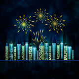 Abstract background with firework Royalty Free Stock Image