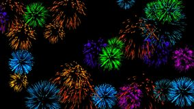 Abstract background with fireworks. Digital illustration. 3d rendering royalty free illustration