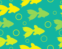 Abstract background with fish. Vector seamless pattern Royalty Free Stock Photos