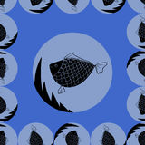 Abstract background with fishes Stock Photo