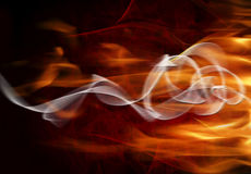 Abstract background with  flames Royalty Free Stock Photos