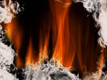 Abstract background with flames Royalty Free Stock Photo