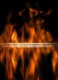Abstract background with  flames Stock Image