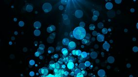 Abstract background with flickering Underwater bubbles. Seamless loop stock video footage