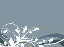 abstract background floral 皇族释放例证