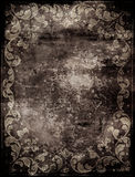 Abstract background with floral decorations. Dirty abstract background with floral decorations Stock Images