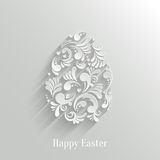 Abstract Background with Floral Easter Egg. Trendy Design Template Royalty Free Illustration
