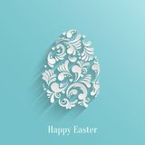 Abstract Background with Floral Easter Egg. Trendy Design Template Royalty Free Stock Photos