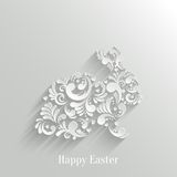 Abstract Background with Floral Easter Rabbit. Bunny, Trendy Design Template Stock Photos