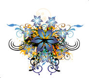 Abstract background with floral element royalty free illustration