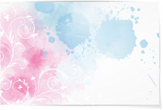 Abstract background with floral elements Royalty Free Stock Image