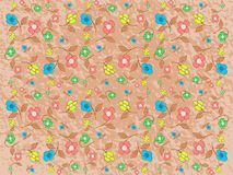 Abstract background with floral fantasy. A background created with stylized flowers and a abstract pattern, suitable for any opportunity from the flyer greeting Royalty Free Stock Photo