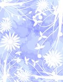 Abstract background with floral fantasy. A background created with stylized flowers and a abstract pattern, suitable for any opportunity from the flyer greeting Royalty Free Stock Images