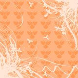 Abstract background with floral fantasy. A background created with stylized flowers and a abstract pattern, suitable for any opportunity from the flyer greeting Stock Image