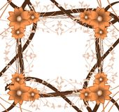Abstract background with floral fantasy. A background created with stylized flowers and a abstract pattern, suitable for any opportunity from the flyer greeting Stock Photos
