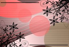 Abstract background with floral fantasy. A background created with stylized flowers and a abstract pattern, suitable for any opportunity from the flyer greeting Royalty Free Stock Photos