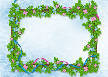 Abstract background  with floral garland Royalty Free Stock Photo