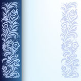 Abstract background with floral ornament. On blue Stock Images