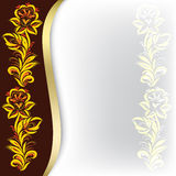 Abstract background with floral ornament. On brown Royalty Free Stock Photos