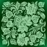Abstract background with floral ornament. Abstract background with green floral ornament vector illustration
