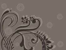Abstract background with floral pattern Royalty Free Stock Photography
