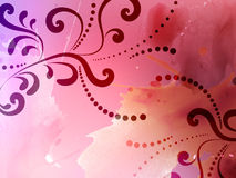 Abstract background with floral pattern Stock Photography