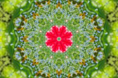 Abstract background of floral pattern of a kaleidoscope. Pink blue green background fractal mandala. abstract kaleidoscopic arabesque. geometrical ornament Stock Images