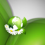 Abstract background. Floral vector background with globe and copy space. Eps10 Stock Images
