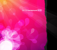 Abstract background with flower. In the corner royalty free illustration