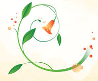 Abstract background with flower. Abstract background with single flower vector illustration