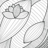 Abstract background with flower, black and white. Vector illustration stock illustration
