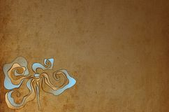 Abstract background with flower. Abstract flower on a brown background royalty free illustration