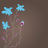 Abstract background with flowers . Stock Images