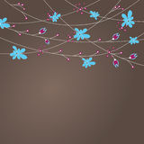 Abstract background with flowers . Vector illustra Royalty Free Stock Photo