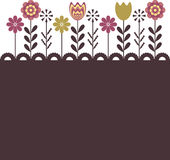 Abstract background with flowers. For you Royalty Free Stock Photos