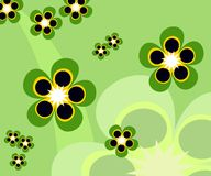 Abstract Background of Flowers. Cheerful abstract flowers drawing; generated from  file Stock Photography