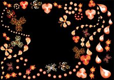 Abstract background with flowers Royalty Free Stock Photos