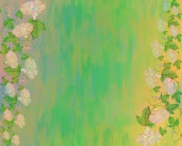 Abstract background with flowers. Royalty Free Stock Images